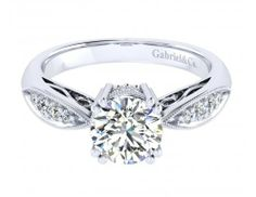 Heaven in diamonds and white gold #engagement #ring by Gabriel & Co.  -  Available at Precision Jewellers