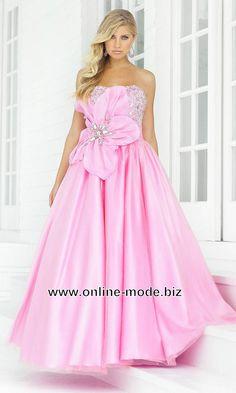 Bustier Abendkleid in Rosa Bodenlang von www.online-mode.biz