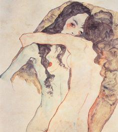 Two Women Embracing, 1911 by Egon Schiele