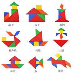 Tangram Animals S S Tangram Animals Solutions Montessori Activities, Preschool Worksheets, Educational Activities, Toddler Activities, Preschool Activities, Classroom Hand Signals, Tangram Puzzles, Math Boards, Paper Crafts Origami