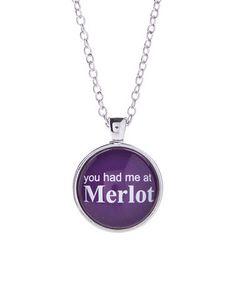 Look what I found on #zulily! Purple 'Merlot' Pendant Necklace #zulilyfinds