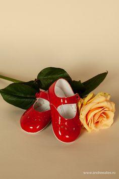 Pantofiori botez Roșu
