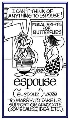 「espouse」支持する、結婚する
