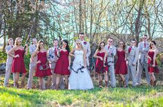 Wedding Party Picture *yeah count me out for holding a weapon