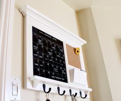 Kitchen Office Mail Family Organizer with Black Dry by Rozemake