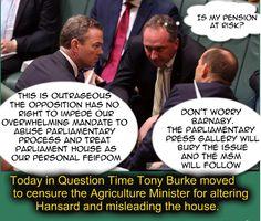 Cover up: Tony Abbott, Christopher Pyne, Banananby Joyless the Educator of dream time. #auspol