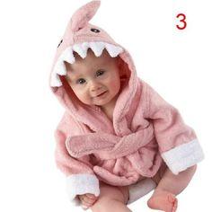 Peignoir de bain requin rose