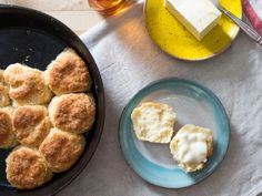Homemade Biscuits Recipe | No buttermilk? No problem! These biscuits bake up tender, fluffy, and golden brown thanks to plain yogurt, which keeps them wonderfully thick and moist as well.