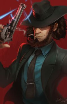 Daisuke Jigen from Lupin III. by ff-sade Conan, Lupin The Third, Studio Ghibli Art, Dungeons And Dragons Homebrew, Character Design References, Manga Games, Character Illustration, Movies Showing, Manga Art