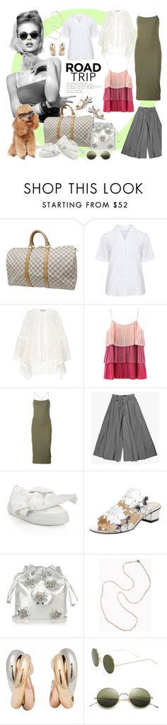 """""""208"""" by believelikebreathing ❤ liked on Polyvore featuring Louis Vuitton, Eterna, ADRIANA DEGREAS, T By Alexander Wang, Joshua's, Charlotte Olympia, Miu Miu, Brunello Cucinelli, Cartier and Illesteva"""