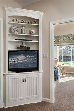 corner built in tv cabinet