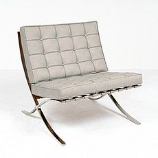 Mies Style: Exhibition Chair - Nimbus Gray Leather Selling Furniture, Quality Furniture, Living Room Modern, Living Rooms, Barcelona Chair, Scandinavian Modern, Grey Leather, Modern Classic, Chair Design