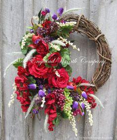 floral valentine wreath homesthetics - Homesthetics - Inspiring ideas for your home.