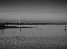 Industrial shoreline - evening.