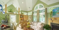 Are you thinking of painting your living room but are not sure about the trending living room paint colors for Read on and you will know which paint colors are the latest, and trending! Green Living Room Paint, Green Rooms, Small Living Rooms, Living Room Decor, Dining Room, Old Country Kitchens, Room Colors, Paint Colours, Wall Colors