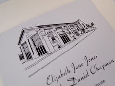 Illustrations for your wedding stationery undertaken.