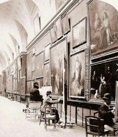 Toulouse-Lautrec (1864-1901) pintando en el Museo del Prado