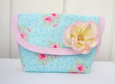 Sweet Floral Pouch  Romantic and charming!  Take me home: https://www.etsy.com/listing/86326193/sweet-floral-pouch?ref=shop_home_active_21&ga_search_query=floral