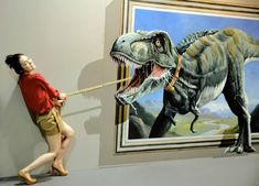 """""""Fifteen South Korean artists created a collection of anamorphic paintings for the """"2012 Magic Art Special Exhibition,"""" which was held at the Hangzhou Peace International Exhibition & Conference Center in China."""""""