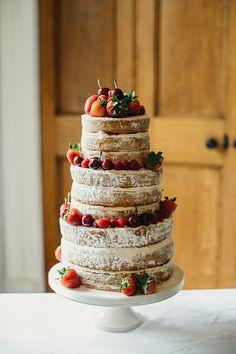 Congratulations India & Ally by Photos By Zoe, via Flickr #nakedcake #nakedweddingcake #liggyscakes