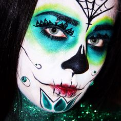 Colorful day of the dead. Holloween Makeup, Sugar Skull