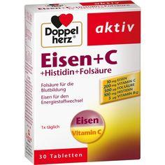 DOPPELHERZ Eisen+Vit.C+L-Histidin Tabletten:   Packungsinhalt: 30 St Tabletten PZN: 02483072 Hersteller: Queisser Pharma GmbH & Co. KG…