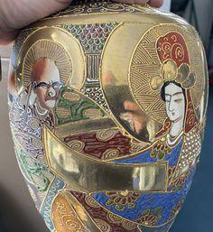 They don't just grow little oranges in Satsuma, Japan! 1920s Japanese Vase from- Satsuma depicting Buddhist images of Kannon and Rakan (Arhats) - Signed Senzan Japanese Vase, 1920s, Auction, Princess Zelda, Fictional Characters, Image, Art, Art Background, Kunst
