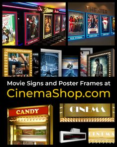 Shop for home theater signs and commercial display signs, including backlit poster frames, cinema marquees, and movie concession displays. Movie Poster Frames, Movie Posters, Crazy Stupid Love, London Now, Mike And Ike, Bad Teacher, Light Up Signs, Zoolander, Movie Theater