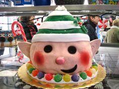 Elf cake by Mueller's Bakery!