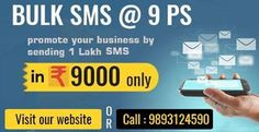 We are excellent in #BulkSMS Services Provider, Marketing_SMS ,Transactional_SMS and Promotional_SMS Services on DND or Non DND Numbers at Best Price in Bhopal, Indore, India