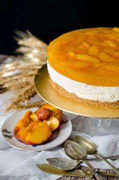 No Bake Peach Cheesecake - www.pastry-workshop.com