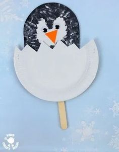 Penguin Crafts for Kids– Winter Fun - A More Crafty Life How cute are these hatching Penguin Chick Puppets? Such a fun and easy Winter craft for toddlers and preschoolers. Winter Crafts For Toddlers, Arts And Crafts For Teens, Art And Craft Videos, Easy Arts And Crafts, Arts And Crafts House, Halloween Crafts For Kids, Arts And Crafts Projects, Toddler Crafts, Preschool Crafts