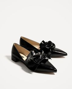 a500dda2bf4 New Zara Flat Shoes With Bow Detail Size 6.5 Second item will ship for free