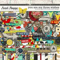 Digital Scrapbook Kit, You are my three Wishes by Lauren Grier & Studio Basic Designs