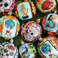 This year I wanted to make something special for my family for Christmas instead of the usual book, rare vodka or beer subscription. I went with handmade, Mexican ornaments for their trees. Mexican Christmas Decorations, Christmas Arts And Crafts, Arts And Crafts For Teens, Art And Craft Videos, Christmas Ornament Crafts, Homemade Ornaments, Homemade Christmas, Christmas Diy, Simple Christmas