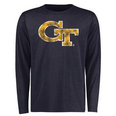 Georgia Tech Yellow Jackets Big & Tall Classic Primary Long Sleeve T-Shirt - Navy