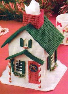 Just how Plastic sheeting can spare your life during a prepper scenario. Plastic Canvas Coasters, Plastic Canvas Ornaments, Plastic Canvas Tissue Boxes, Plastic Canvas Christmas, Plastic Canvas Crafts, Plastic Canvas Patterns, Broderie Bargello, Colorful Christmas Tree, Needlepoint Patterns
