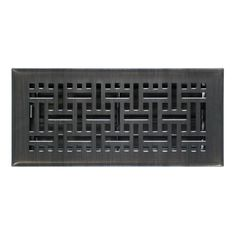 Shop Accord Ventilation Accord Select Dark Oil Rubbed Bronze Wicker Floor Register (Rough Opening: 4-in x 10-in; Actual: 5.36-in x 11.38-in) at Lowe's Canada. Find our selection of registers at the lowest price guaranteed with price match + 10% off.