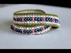Wrapped Beaded Bracelet with Twin Beads - YouTube