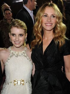 AUNT AND NIECE  Emma Roberts is the daughter of actor Eric Roberts and niece of Julia Roberts.