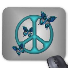 peace sign and butterfly tattoos - Google Search
