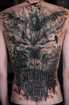 Татуировка на спине #tattoo #diablo