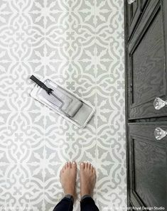 Tile Stencils for Walls, Floors, and DIY Kitchen Decor – Royal Design Studio Stencils Bar Design, Royal Design, Design Studio, Tile Design, Tile Floor Designs, Kitchen Floor Tile Patterns, Design Ideas, Design Trends, Painting Tile Floors