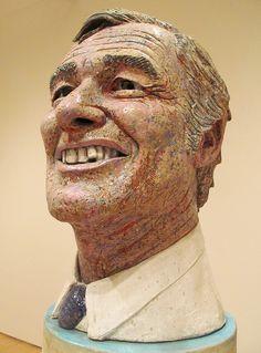 Robert Arneson  (detail) Portrait of George (Moscone), 1981. Ceramic (1930-1992) SFMOMA