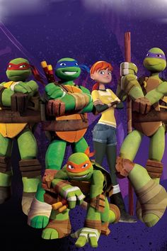"""That pose that Mikey is in, is what my brother and I used to call, """"The ninja turtle pose"""""""
