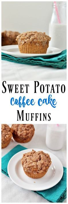 Modify for THM You need to try these Sweet Potato Coffee Cake Muffins. The healthy breakfast recipe that comes with a serving of veggies! Vegan and gluten free. Healthy Muffins, Healthy Breakfast Recipes, Brunch Recipes, Dessert Recipes, Muffin Recipes, Paleo Dessert, Gluten Free Desserts, Vegan Desserts, Healthy Deserts