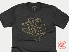 Deep In The Heart Of Texas CB designed by Lauren Griffin. Texas Shirts, Types Of Lettering, Lettering Design, Texas Logo, Hipster Logo, Cool Typography, Love T Shirt, Great T Shirts, Work Inspiration