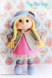 Mesmerizing Crochet an Amigurumi Rabbit Ideas. Lovely Crochet an Amigurumi Rabbit Ideas. Crochet Dolls Free Patterns, Amigurumi Patterns, Amigurumi Doll, Lalaloopsy, Knitted Dolls, Cute Dolls, Stuffed Toys Patterns, Handmade Toys, Crochet Projects