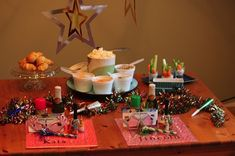 new years party for kids   party table  LIke the goals for each kids to write