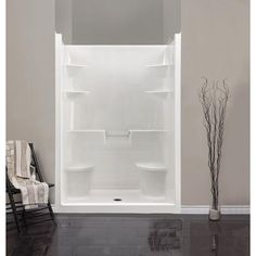 One Piece Shower Stalls With Seat
